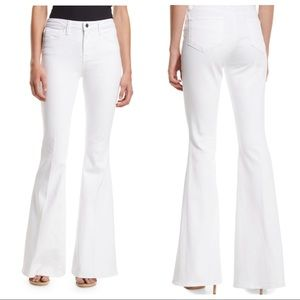 L'AGENCE Sophie High Rise Flare Jeans White SZ 25